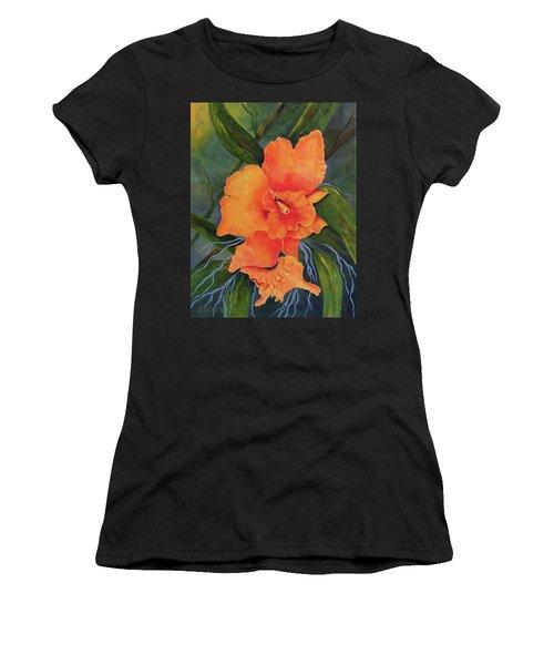 Peach  Blush Orchid Women's T-Shirt