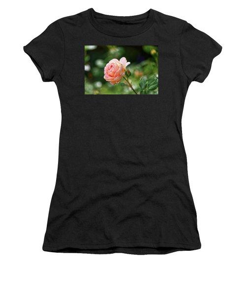 Peach Petals Women's T-Shirt (Athletic Fit)