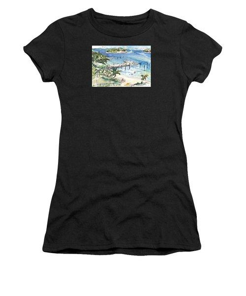 Peanut Island Women's T-Shirt (Athletic Fit)