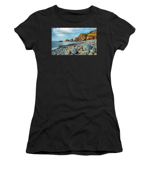 Women's T-Shirt featuring the photograph Pebbles On The Beach by Nick Bywater