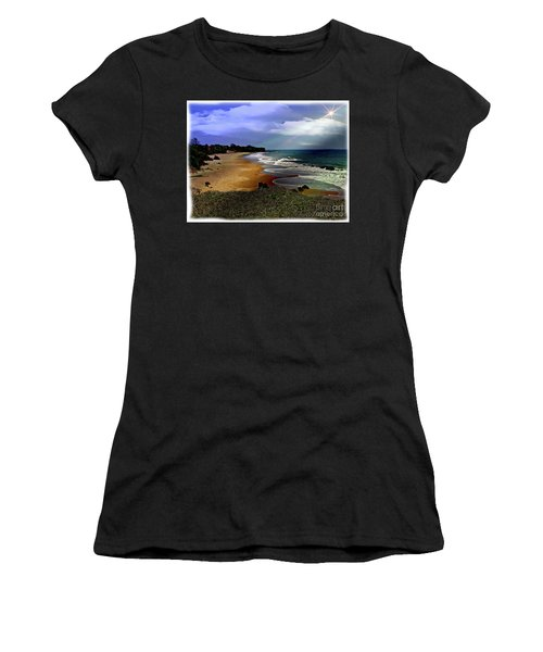 Pedasi Beach, In The Dry Arc Of Panama Women's T-Shirt (Athletic Fit)
