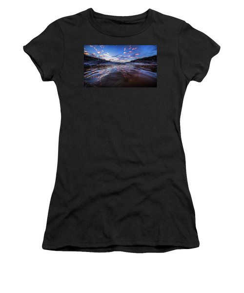 Peddernales Falls Sunset #1 Women's T-Shirt (Athletic Fit)