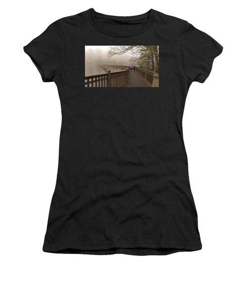 Pedestrian Bridge Early Morning Women's T-Shirt (Athletic Fit)