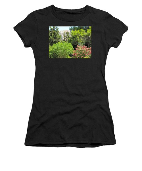 Peek Of The Parthenon Women's T-Shirt (Athletic Fit)