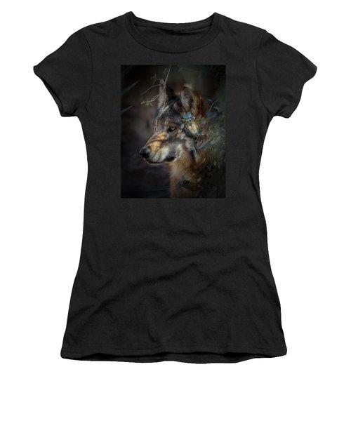 Peeking Out From The Shadows Women's T-Shirt