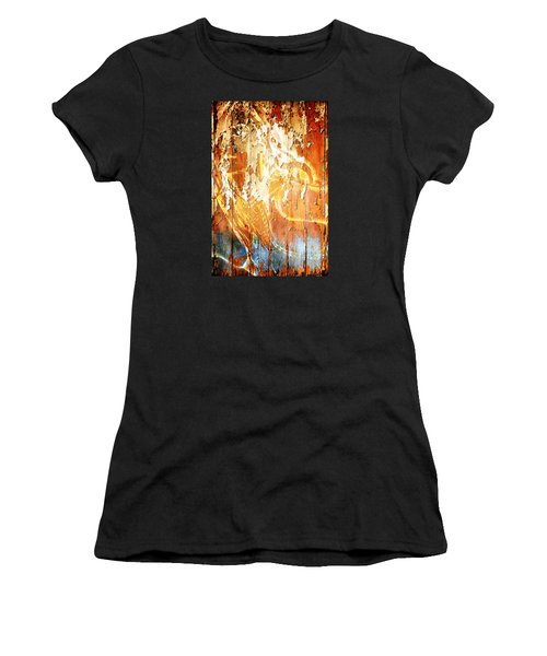 Peeling Wall Portrait Women's T-Shirt (Athletic Fit)