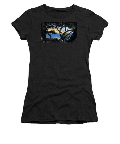 Peeping Through Pines Women's T-Shirt