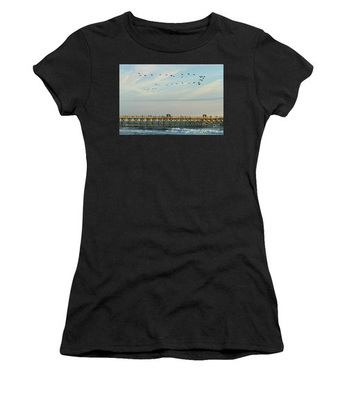 Pelicans At Flagler Beach Women's T-Shirt