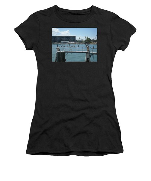 Pelicans In A Row Women's T-Shirt (Athletic Fit)