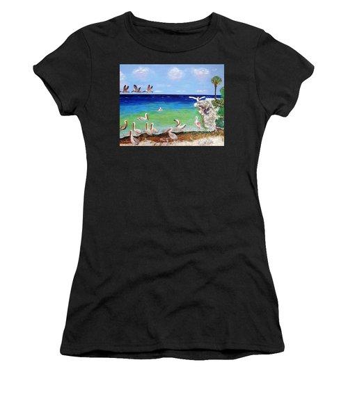 Pelicans Women's T-Shirt (Athletic Fit)