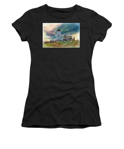 Pemaquid Lighthouse,maine Women's T-Shirt (Athletic Fit)