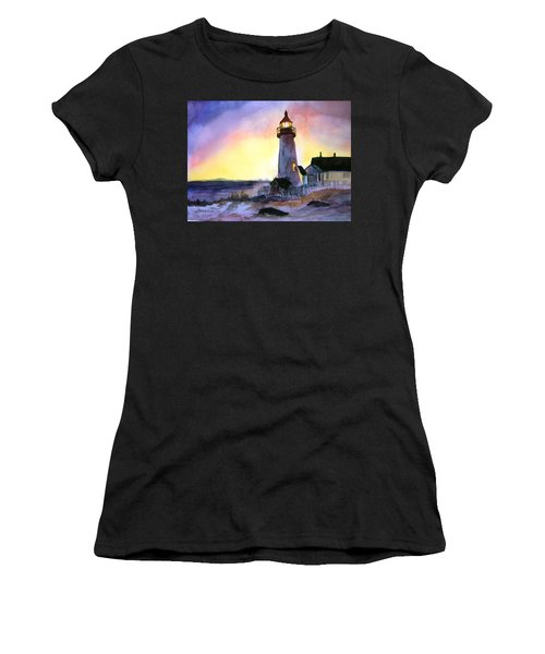Pemaquid Point Lighthouse Maine Women's T-Shirt (Athletic Fit)