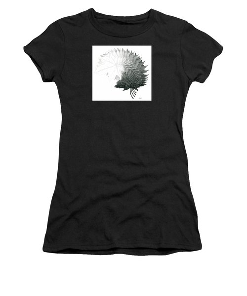Pencil Drawing Of Maple Leaves Women's T-Shirt