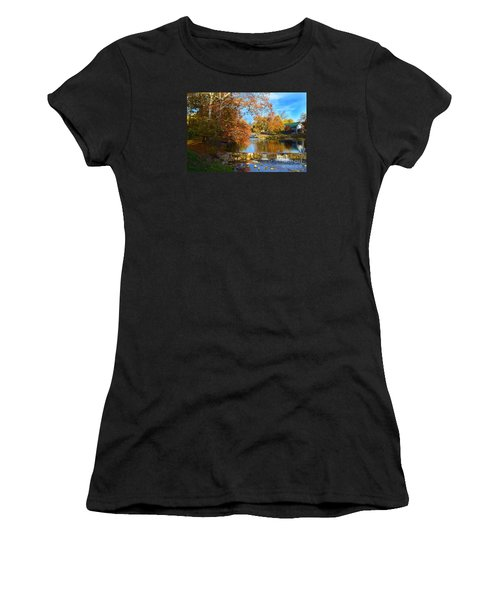 Pendleton Falls Park In The Fall Women's T-Shirt (Athletic Fit)
