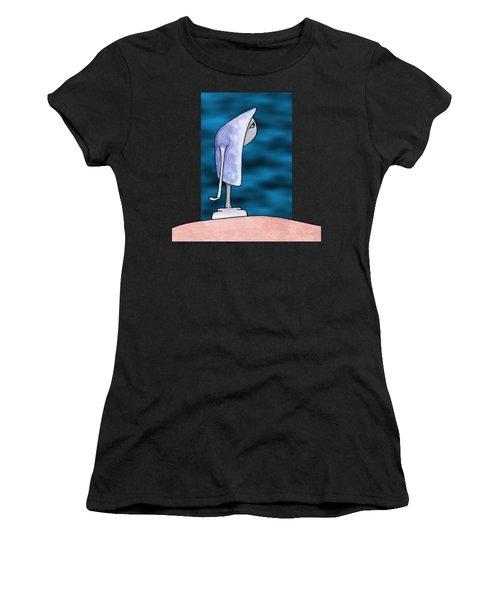Pensive Women's T-Shirt (Athletic Fit)