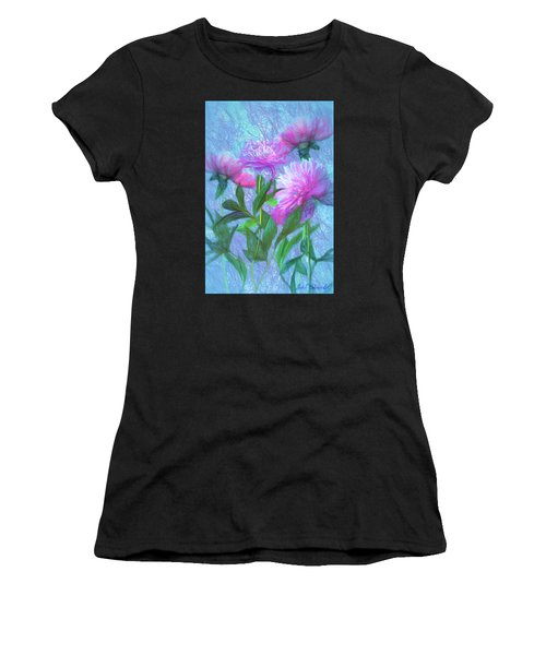 Peonies #3 Women's T-Shirt (Athletic Fit)