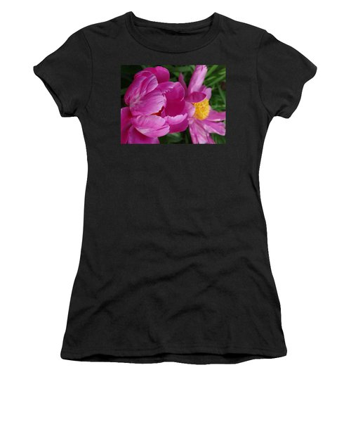 Peonies In Pink Women's T-Shirt (Athletic Fit)
