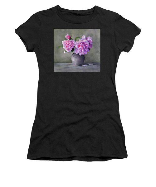 Peonies Women's T-Shirt (Athletic Fit)