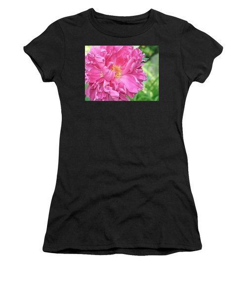Women's T-Shirt featuring the photograph Peony Perfection by Lynda Lehmann