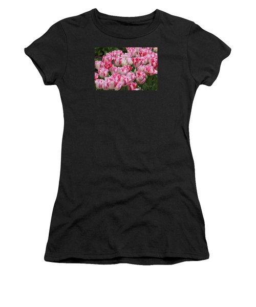 Peppermint Tulip Field IIi Women's T-Shirt (Athletic Fit)