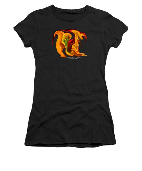 Peppers Lion Transparency Women's T-Shirt (Athletic Fit)
