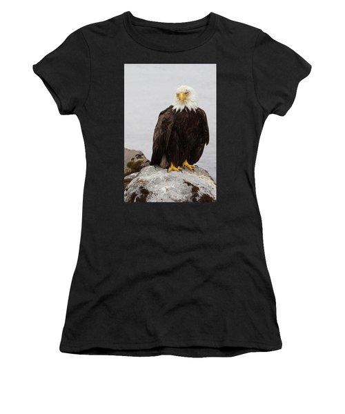 Perched Bald Eagle Women's T-Shirt