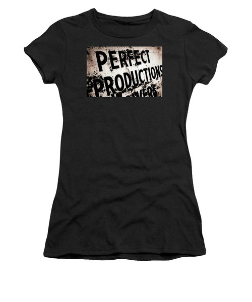 Perfect Productions Women's T-Shirt (Junior Cut) by Gray  Artus