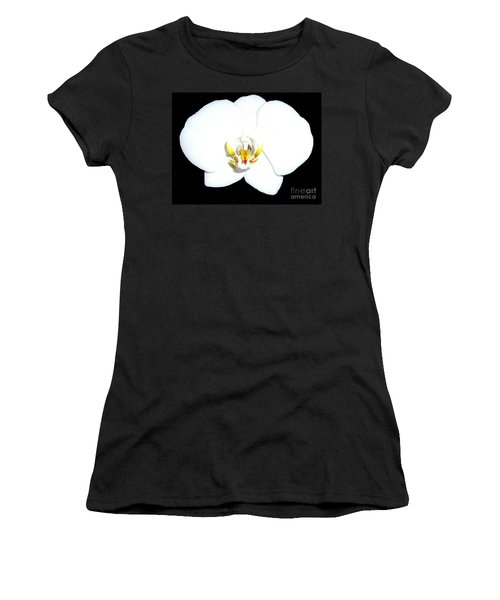 Perfect White Orchid Women's T-Shirt (Athletic Fit)