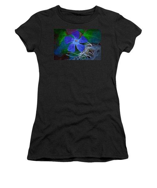 Women's T-Shirt (Junior Cut) featuring the digital art Periwinkle Blue by Donna Bentley