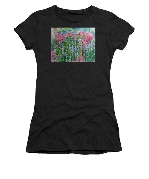 Perky Pink Phlox In A Dahlonega Garden Women's T-Shirt
