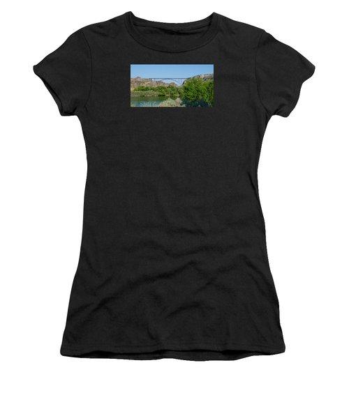 Perrine Bridge At Twin Falls Women's T-Shirt (Athletic Fit)