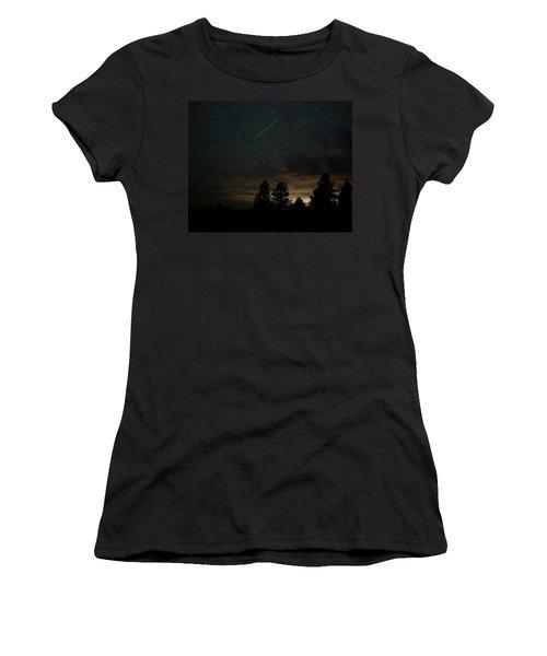 Women's T-Shirt featuring the photograph Perseid Meteor by Bill Gabbert