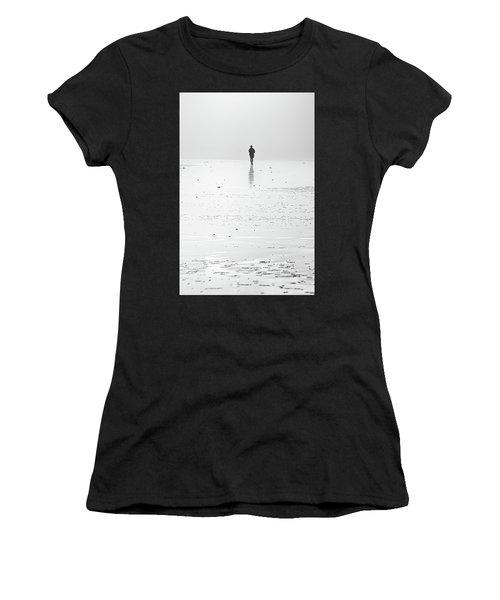 Person Running On Beach Women's T-Shirt