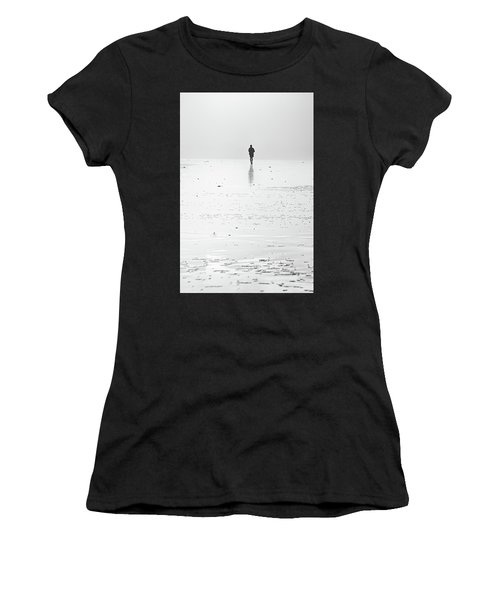 Person Running On Beach Women's T-Shirt