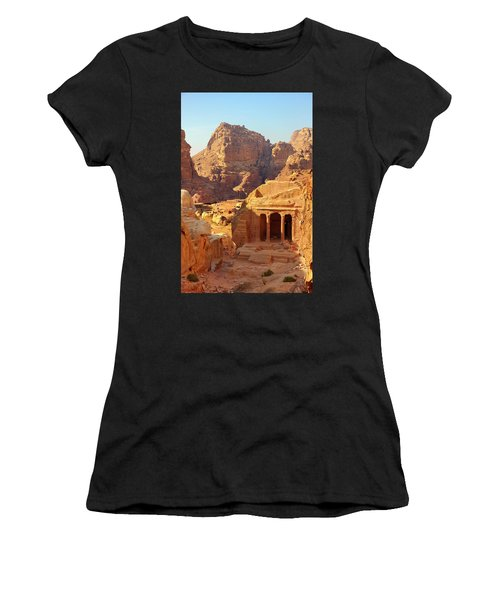 Petra Buildings, Pond And Gardens Complex Women's T-Shirt (Athletic Fit)