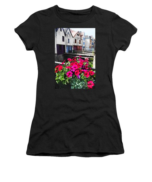 Petunias Of Amiens Women's T-Shirt (Junior Cut) by Therese Alcorn