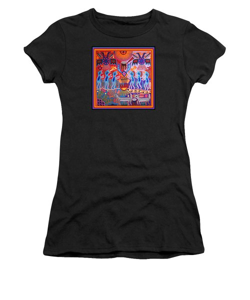 Peyote Shaman Hunting Ritual Women's T-Shirt (Athletic Fit)