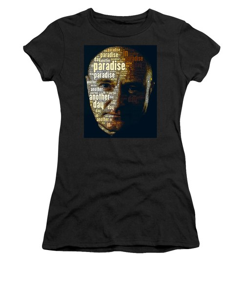 Phil Collins Word Portrait  Women's T-Shirt (Athletic Fit)