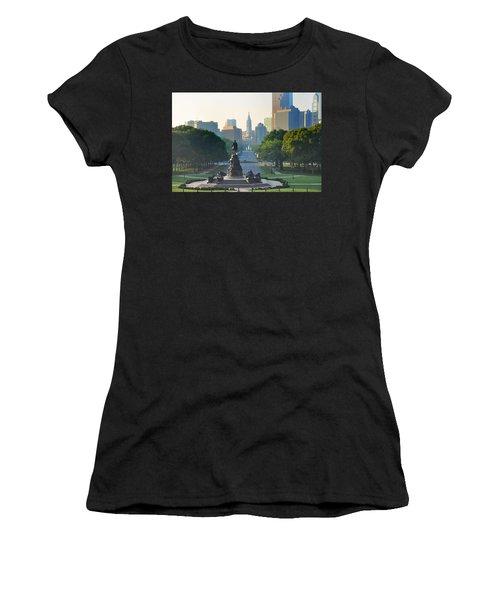 Philadelphia Benjamin Franklin Parkway Women's T-Shirt