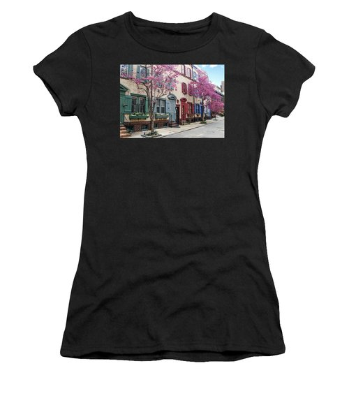 Women's T-Shirt featuring the photograph Philadelphia Blossoming In The Spring by Bill Cannon