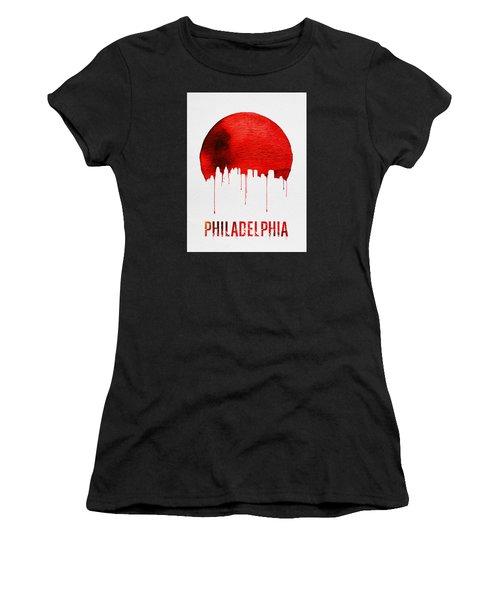 Philadelphia Skyline Redskyline Red Women's T-Shirt (Athletic Fit)