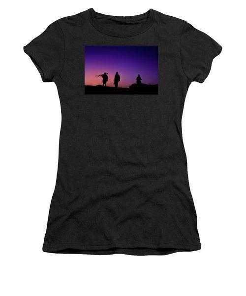Photographers At Sunset Women's T-Shirt (Junior Cut) by Ralph Vazquez