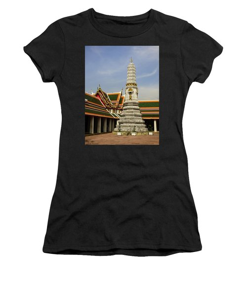 Phra Prang Tower At Wat Pho Temple Women's T-Shirt (Athletic Fit)