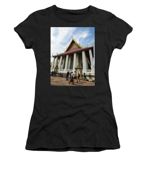 Phra Ubosot At Wat Pho Temple Women's T-Shirt (Athletic Fit)