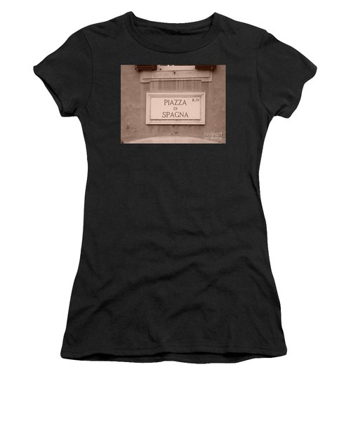 Piazza Di Spagna Women's T-Shirt (Athletic Fit)