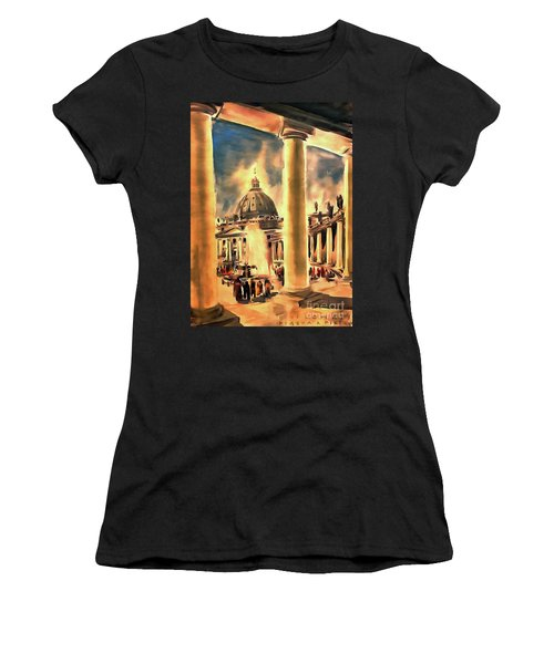 Piazza San Pietro In Roma Italy Women's T-Shirt (Athletic Fit)