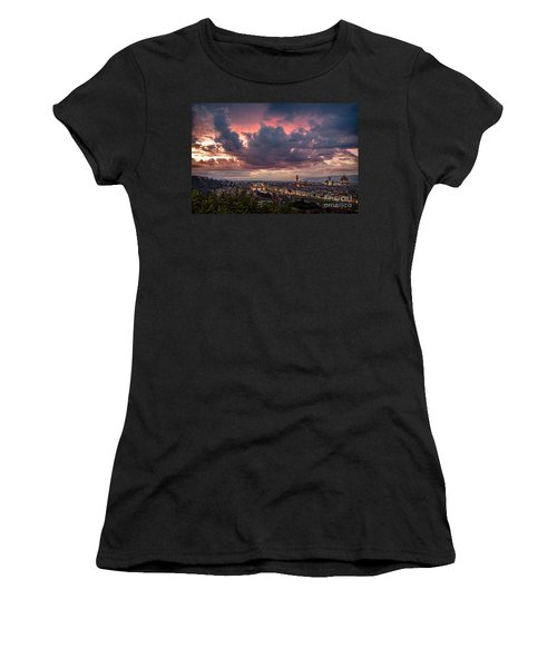 Piazzale Michelangelo Women's T-Shirt (Junior Cut) by Giuseppe Torre