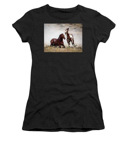 Picasso - Wild Stallion Battle Women's T-Shirt (Athletic Fit)