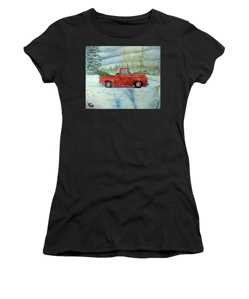 Picking Up The Christmas Tree Women's T-Shirt