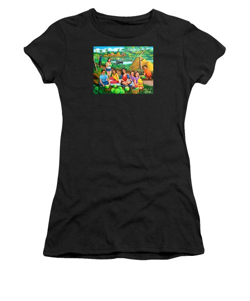Picnic At The Farm Women's T-Shirt (Athletic Fit)